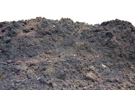 Pile of soil isolated on white Stock Photo - 12986214