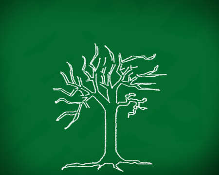 The tree on the blackboard  Stock Photo - 12986126