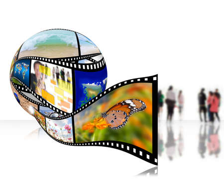 3D film strip images,Photo World  photo