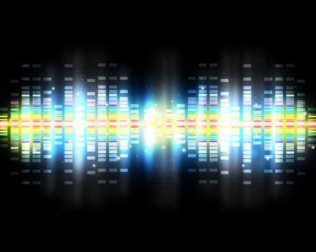 musica electronica: Las ondas de sonido poner el fondo musical