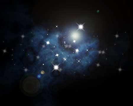 astrophotography: galaxy Orion in the universe