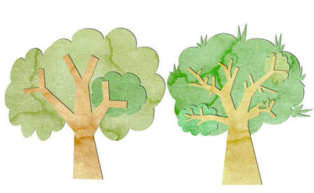 sticky hands: Trees are made from recycled paper