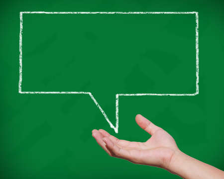 thought bubble: Handle a blackboard