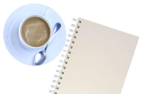 Notebooks, coffee mugs  photo