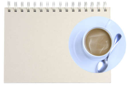 Notebooks, coffee mugs  photo