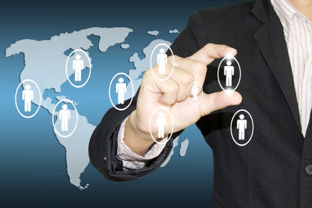 The business social network structure Stock Photo - 13209753