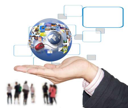 apoyo social: Toque la conexi�n a Internet interactiva