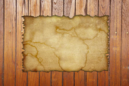 Old paper on the wood background Stock Photo - 13271806