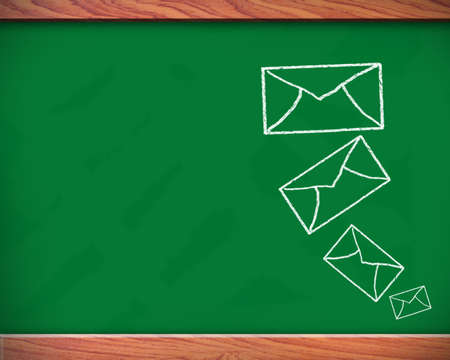 School blackboard drawing mail symbol photo