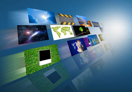 tv panel: Television and internet production technology concept