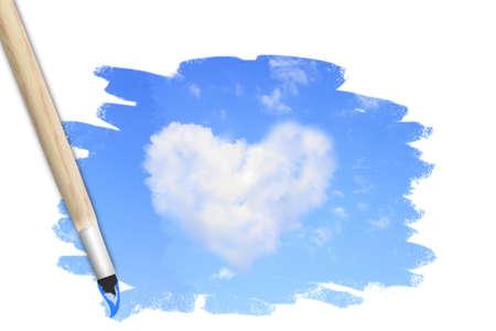 Hand paint the sky hearts  Conceptual design  photo