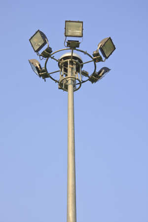 light pole on blusky background  photo