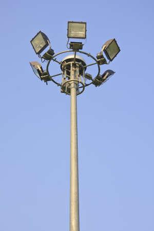 light pole on blusky background Stock Photo - 13332497