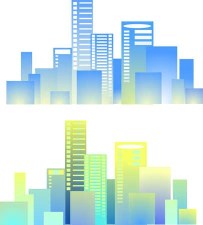 City buildings vector Stock Vector - 13526855