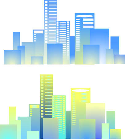 multistory: City buildings vector