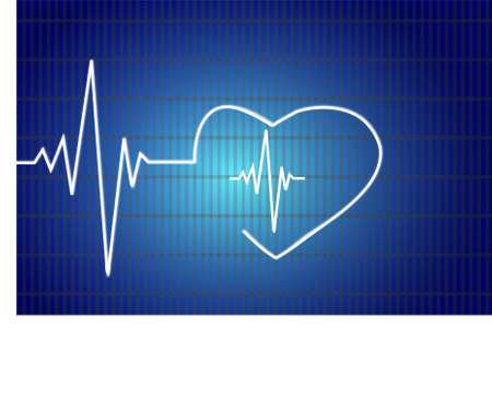 heartbeat line: Abstract heart beats cardiogram illustration