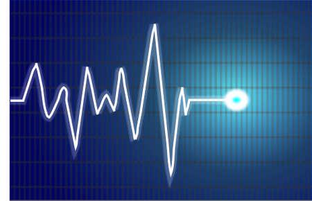 Abstract heart beats cardiogram illustration Stock Vector - 13526867