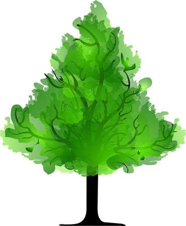 appletree: green tree Illustration