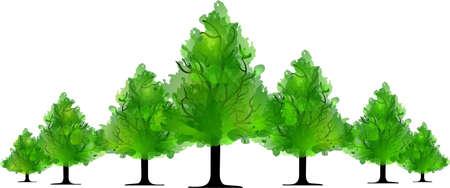 appletree: green trees