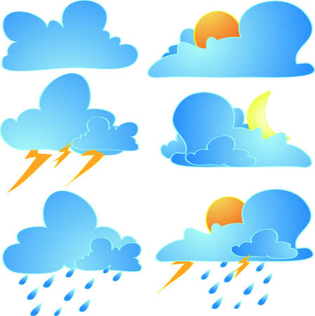 meteorological: Cloudy weather vector