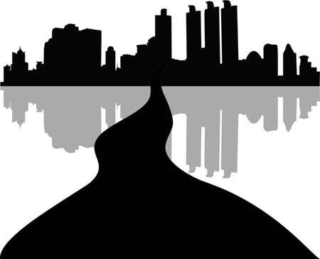 Urban buildings vector Stock Vector - 13619340