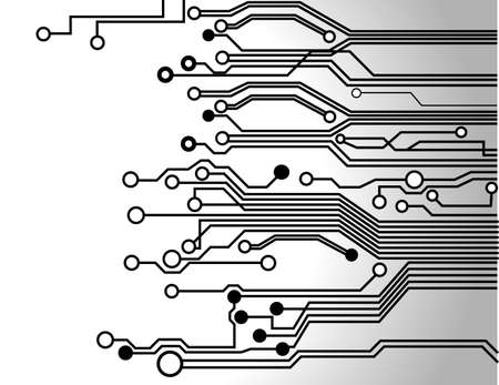 electronic circuit: circuit board background texture  Illustration