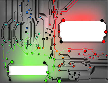 high tech design: circuit board background texture  Illustration