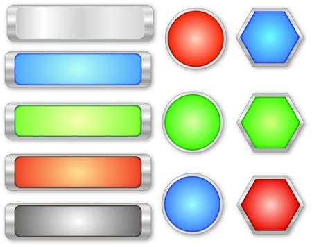 knop: glanzende knopen Stock Illustratie