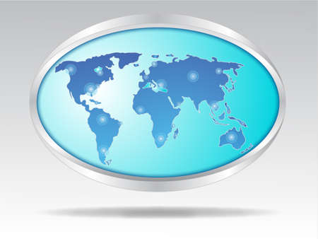 VECTOR Glossy World sphere  Illustration