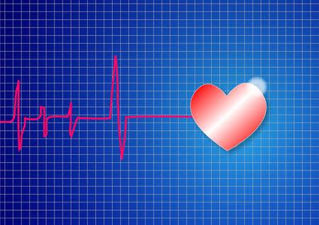 electrocardiograma: Una forma de la señal de pulso del vector columna vertebral Vectores