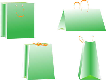 Set of shopping bags  vector Stock Vector - 13789770
