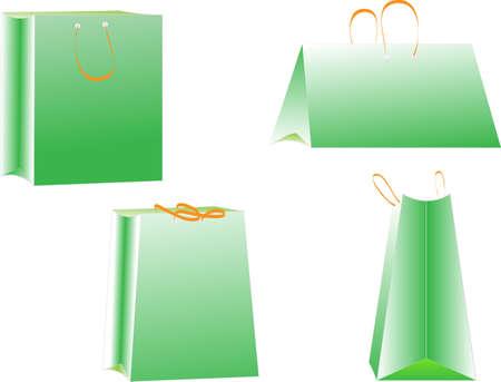 Set of shopping bags  vector Stock Vector - 13789770