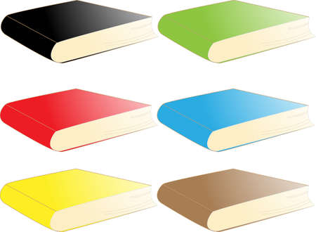 Set of colorful books Stock Vector - 13805286