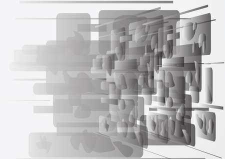 Beautiful abstract black white background  Vector