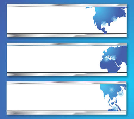 Business abstract backgrounds with world map  Vector illustration Stock Vector - 13931638