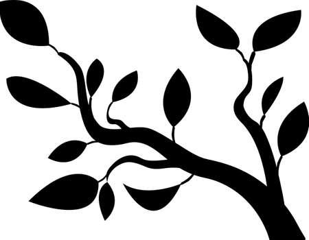 支店: 黒い木のベクトル