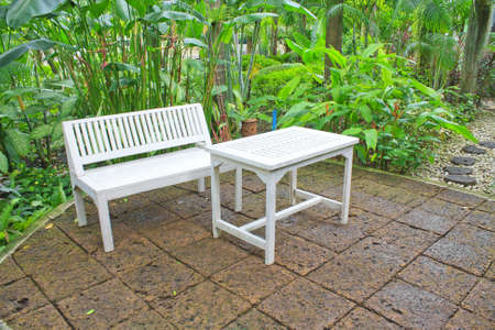 Garden table and chairs  photo