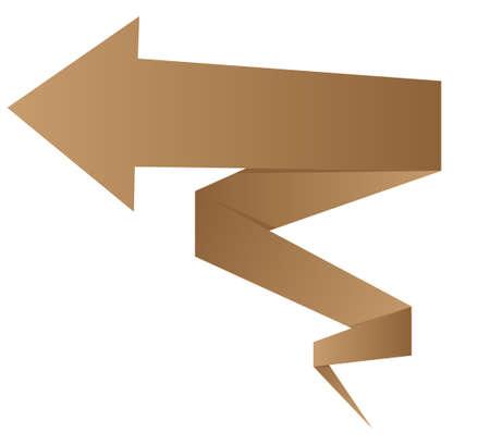 curve arrow: Abstract image of arrow vector