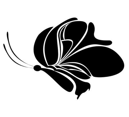 Abstract butterfly  Vector for your design  Vector