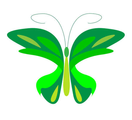 aerials: vector butterfly