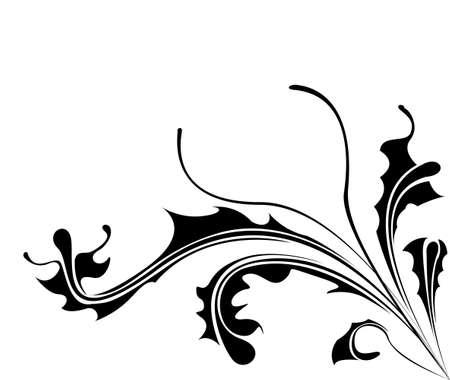 De fondo con flor de la dalia. Elemento para el diseño. Ilustración del vector. Foto de archivo - 14180429