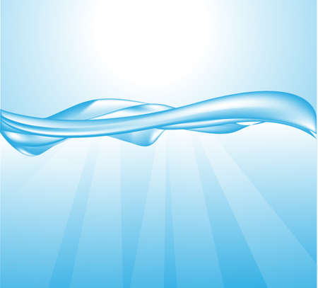 abstract water wave, vector illustration  Vector