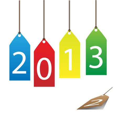 This paper the new year 2013 vector. Stock Vector - 14180412
