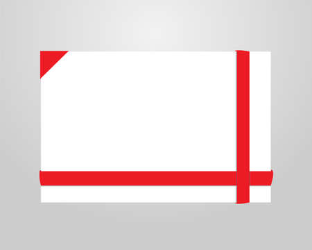 red envelope: red greeting or invitation cards , vector  Illustration