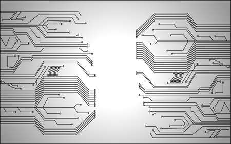integrated: circuit board background texture  Illustration