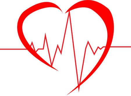추상 심장은 심전도 그림을 친다
