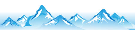 mountain holidays: Winter mountains Vector Illustration