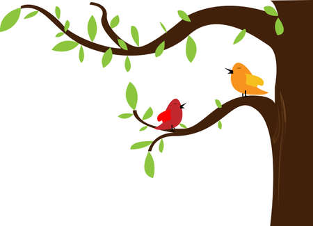 cute greeting card with bird  vector illustration  Illustration