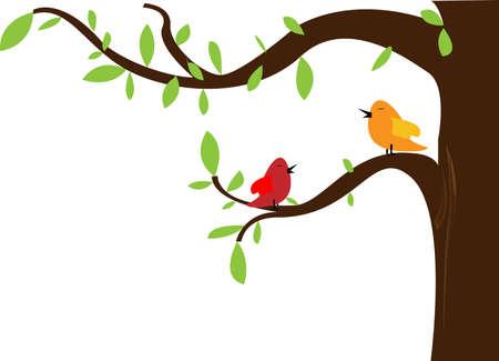 cute greeting card with bird  vector illustration  Illustration