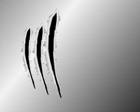 metal net: Las huellas de un garras de los animales en el fondo de acero